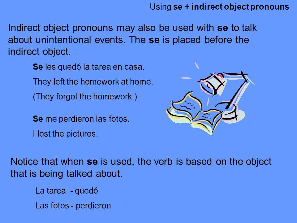 Using se + indirect object pronouns