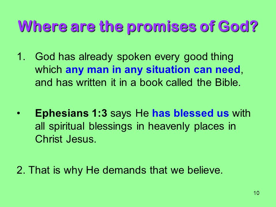 Where are the promises of God