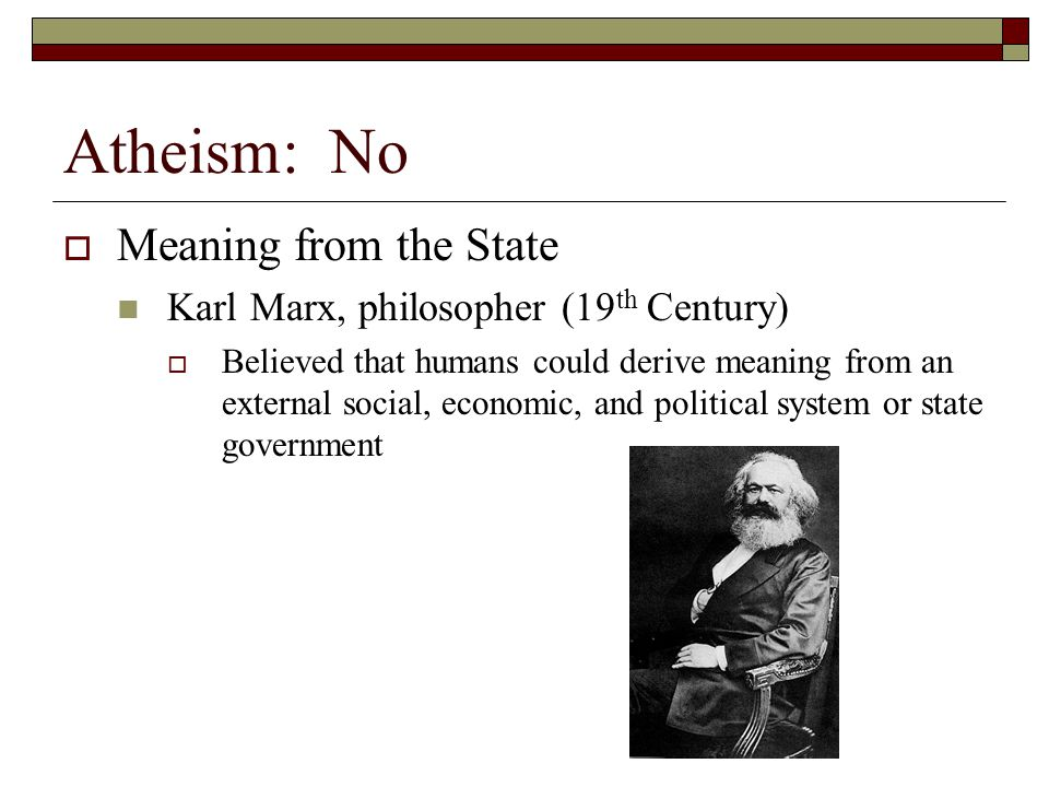 Atheism: No Meaning from the State