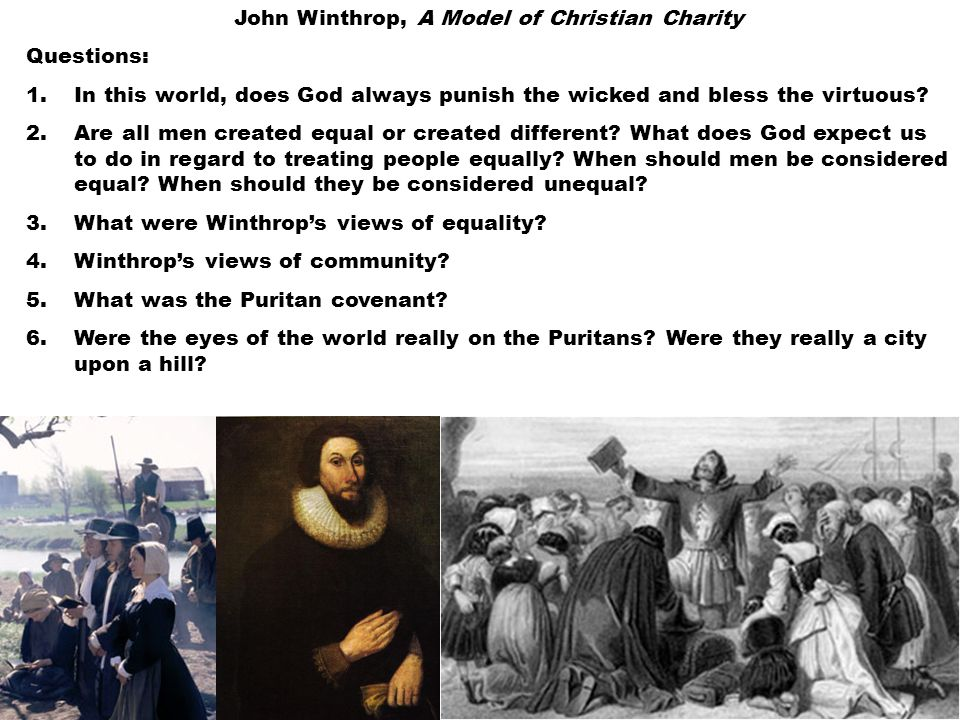 John Winthrop, A Model of Christian Charity