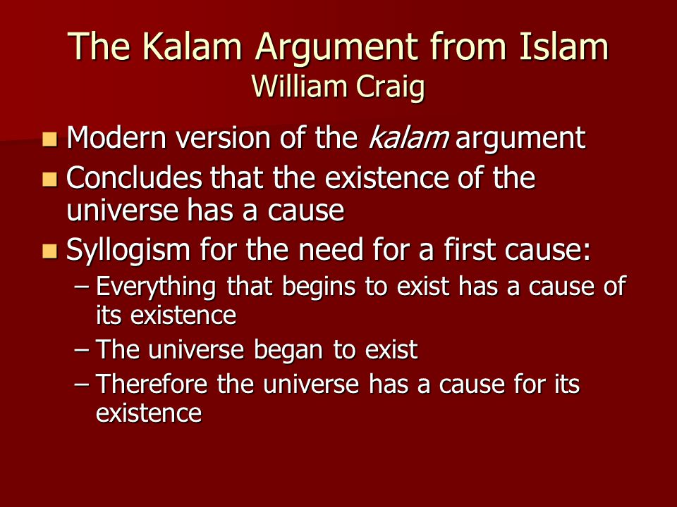 The Cosmological Argument for God