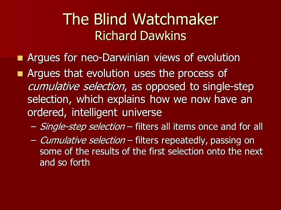 The Blind Watchmaker Richard Dawkins