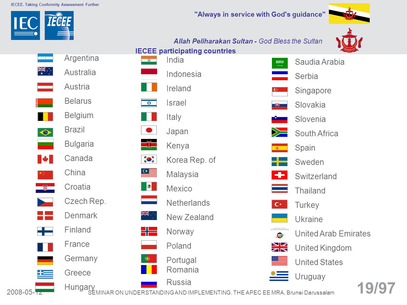 IECEE participating countries