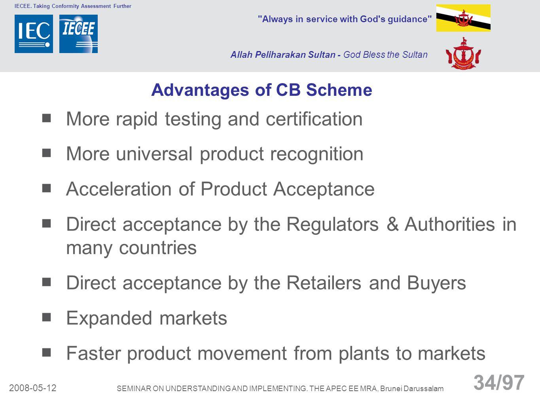 Advantages of CB Scheme