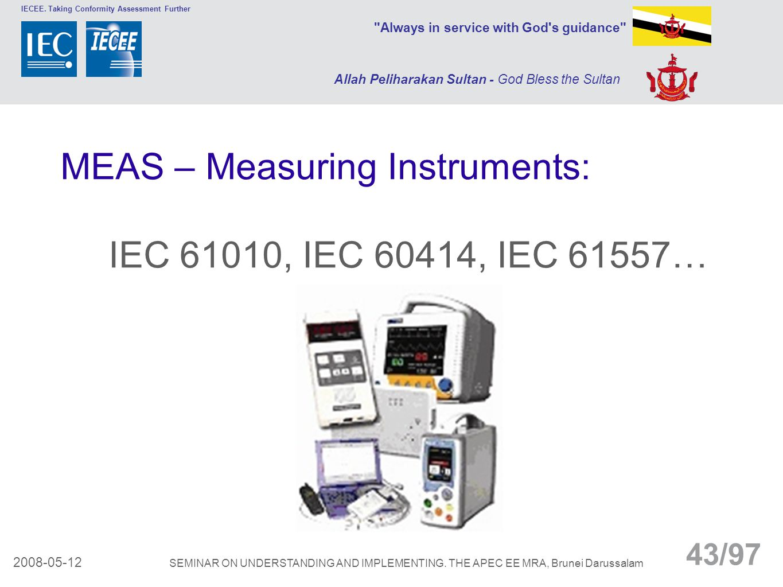 MEAS – Measuring Instruments: IEC 61010, IEC 60414, IEC 61557…