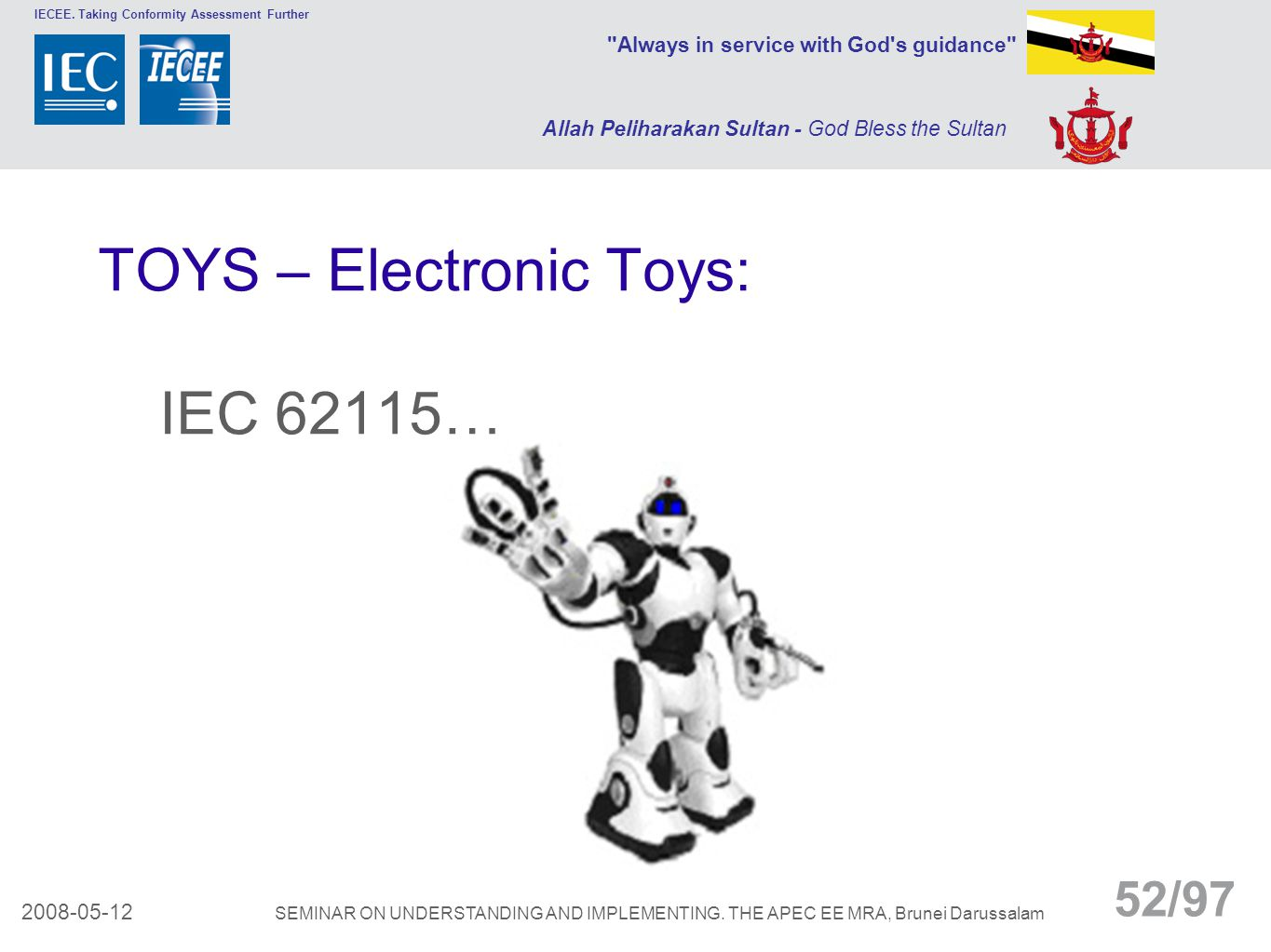 TOYS – Electronic Toys: IEC 62115…