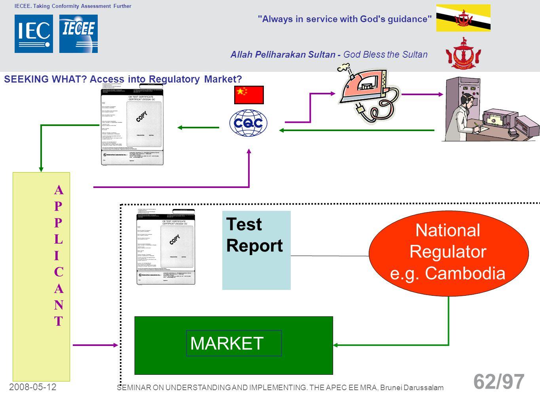 National Regulator e.g. Cambodia