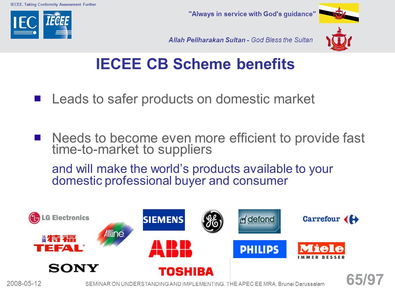 IECEE CB Scheme benefits
