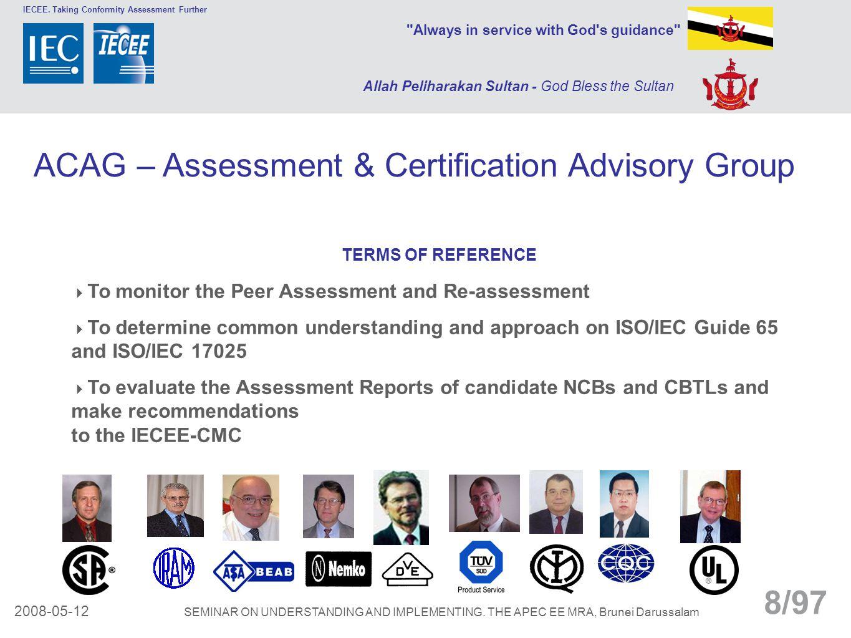 ACAG – Assessment & Certification Advisory Group