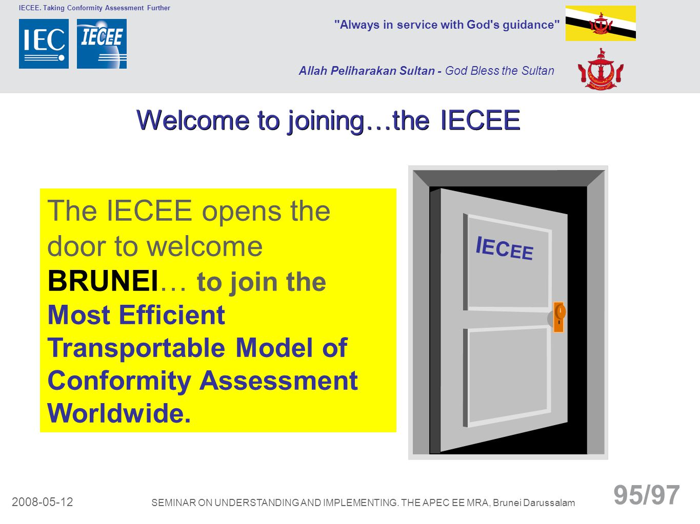 Welcome to joining…the IECEE