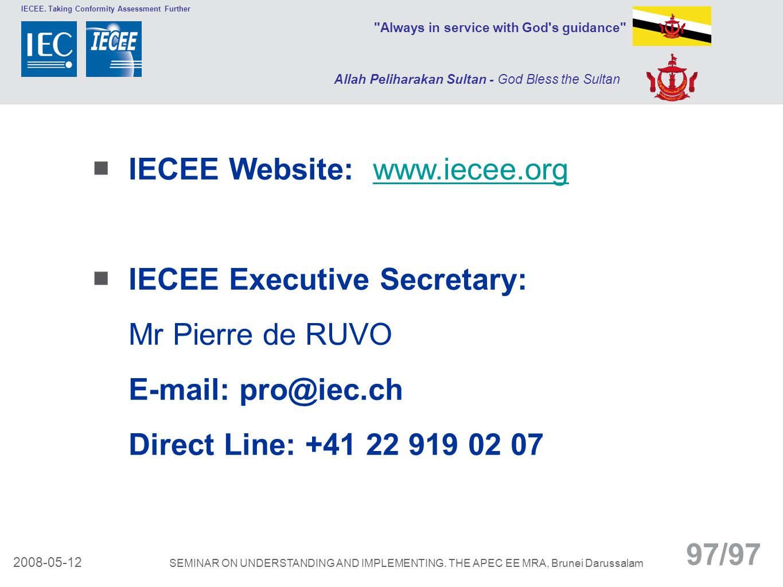 IECEE Website: www.iecee.org