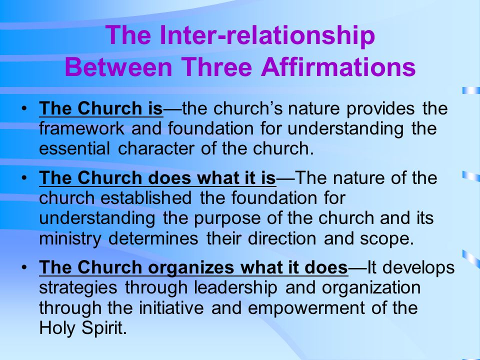 The Inter-relationship Between Three Affirmations