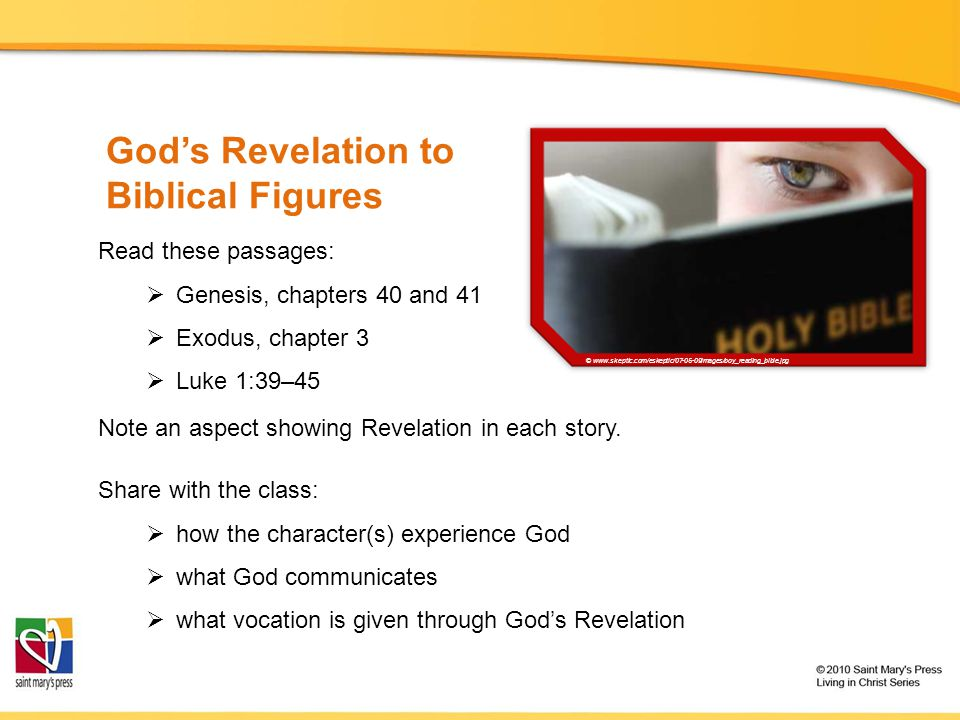 God's Revelation to Biblical Figures