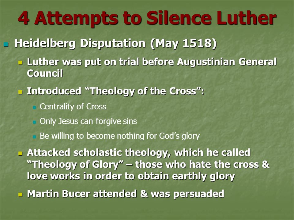 4 Attempts to Silence Luther