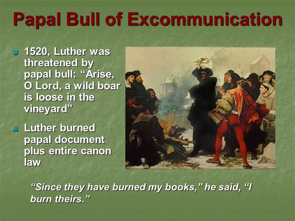 Papal Bull of Excommunication