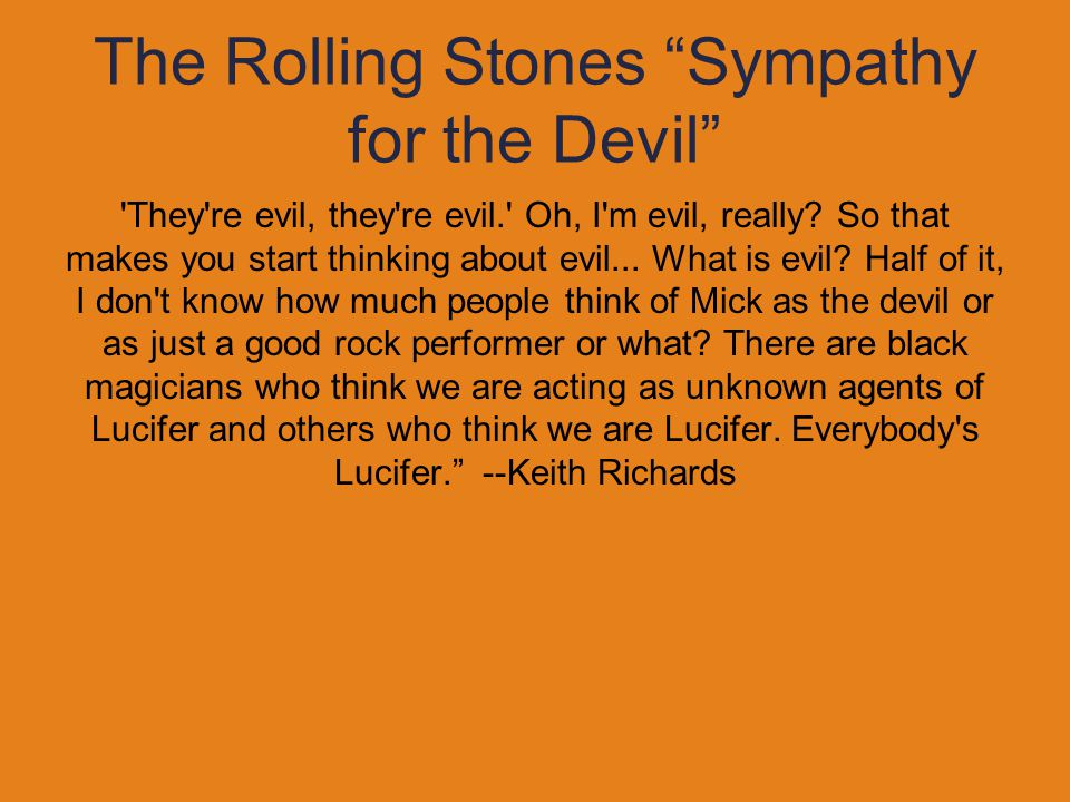 The Rolling Stones Sympathy for the Devil