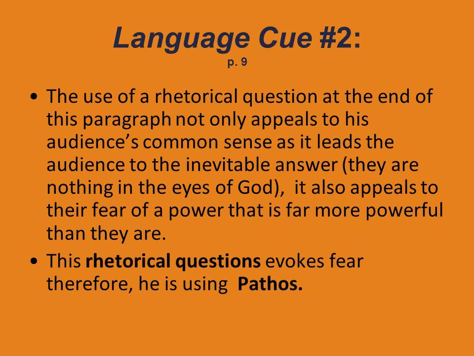 Language Cue #2: p. 9