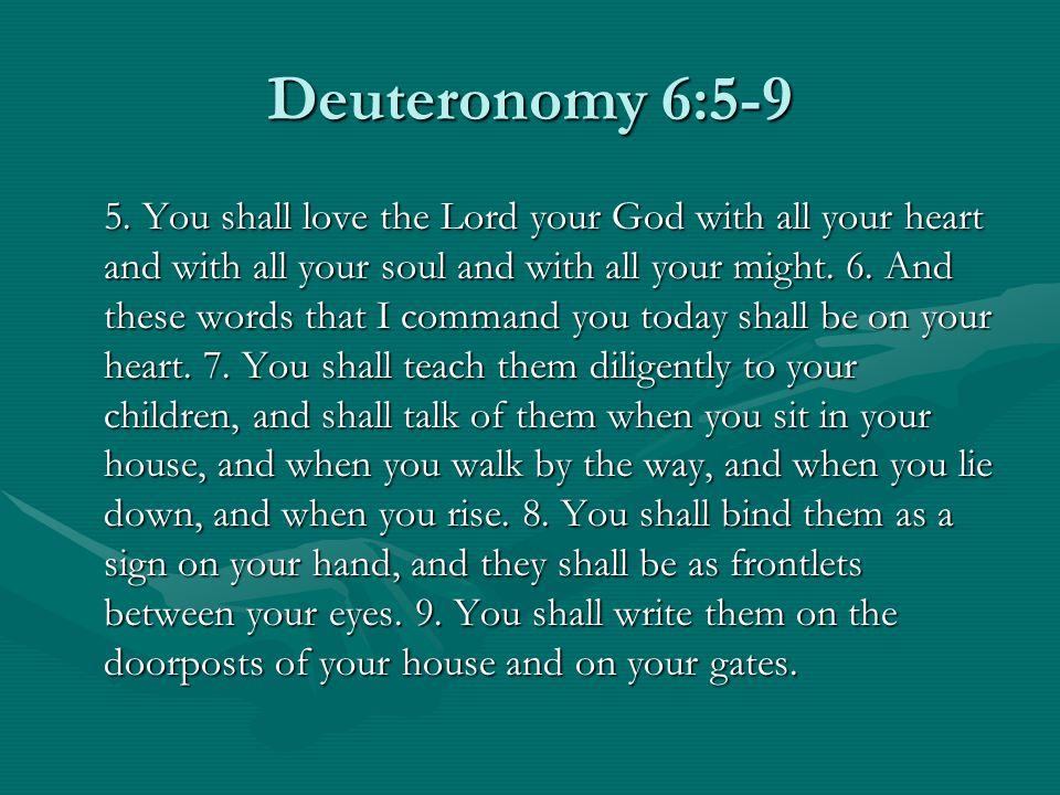 Deuteronomy 6:5-9