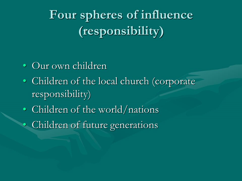 Four spheres of influence (responsibility)