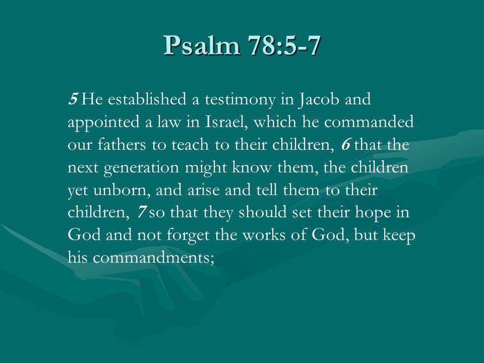Psalm 78:5-7