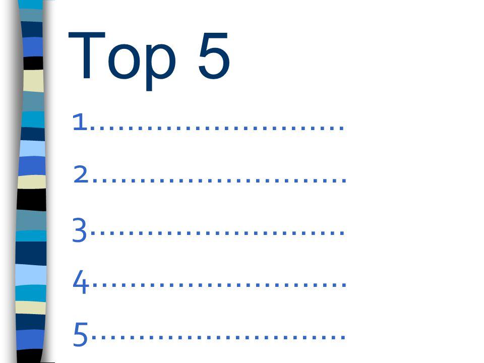 Top 5 1........................... 2........................... 3........................... 4...........................