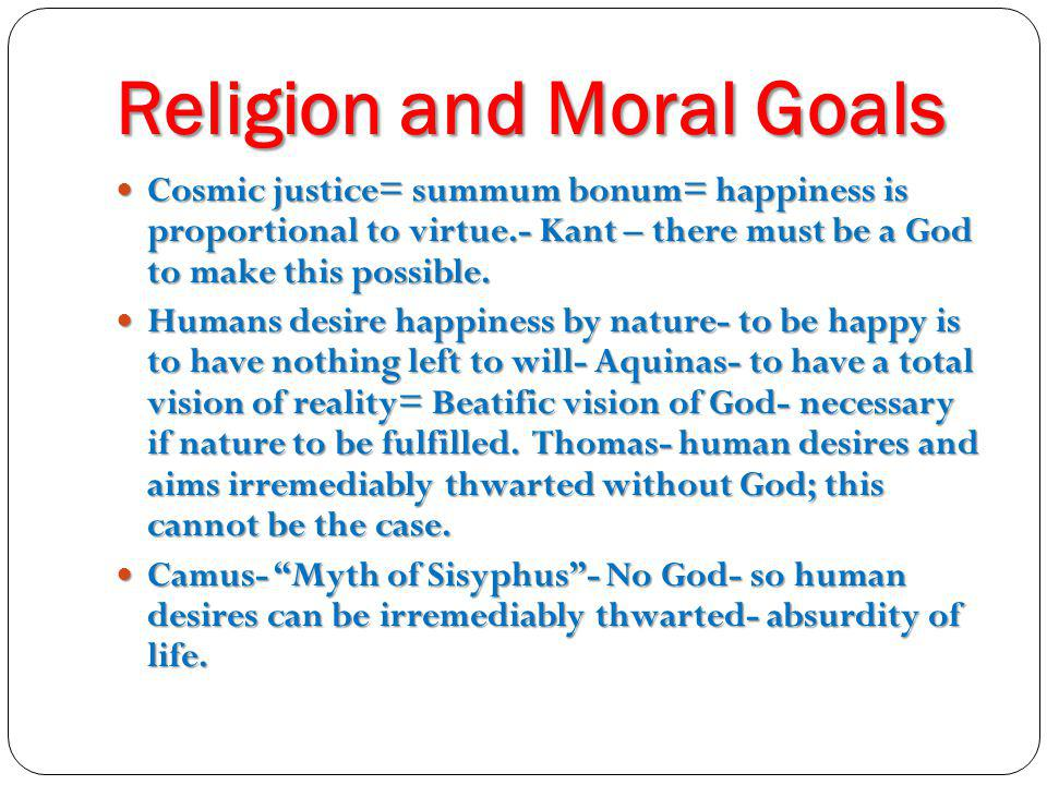 Religion and Moral Goals