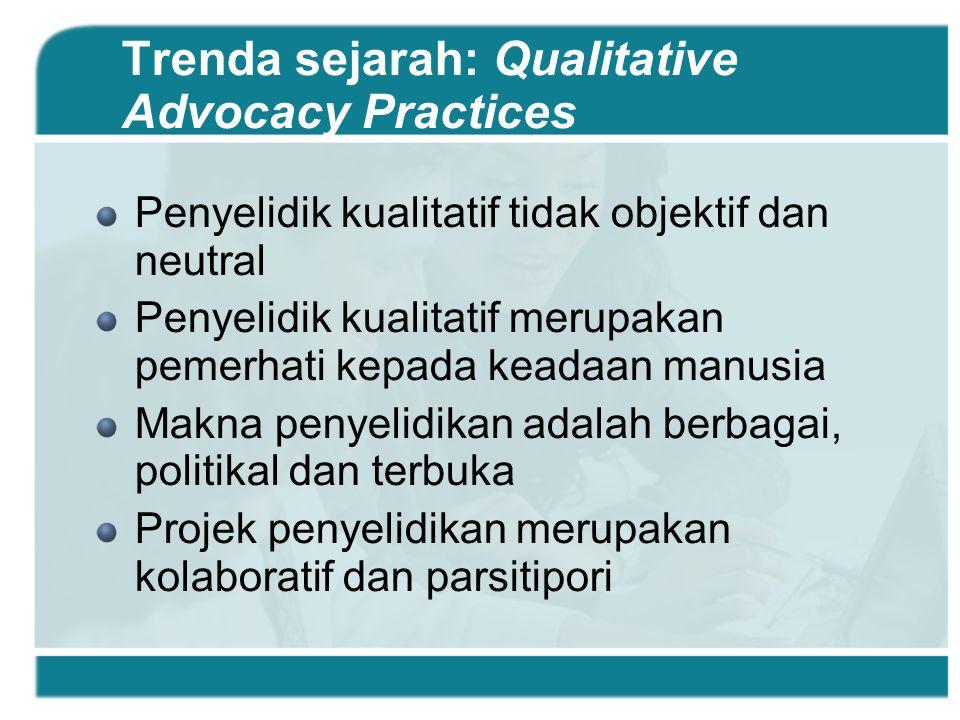 Trenda sejarah: Qualitative Advocacy Practices