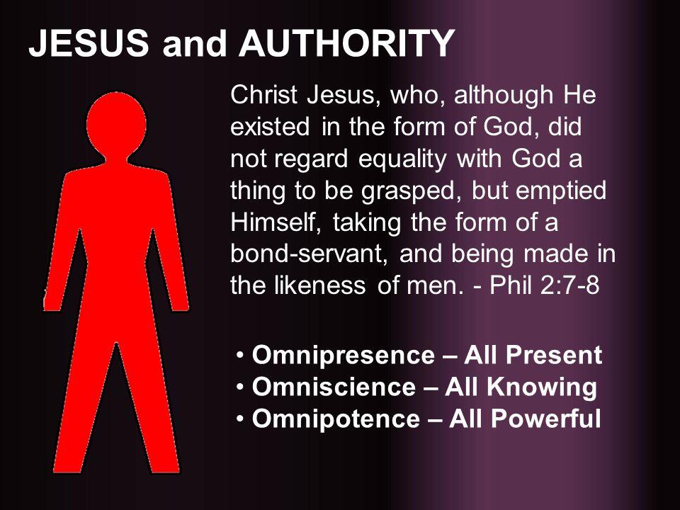 JESUS and AUTHORITY