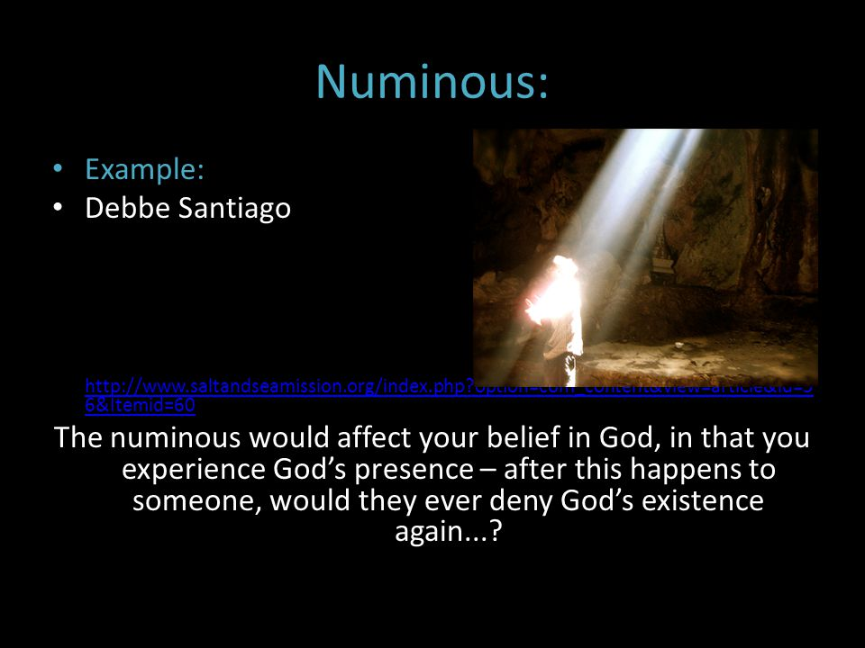 Numinous: Example: Debbe Santiago