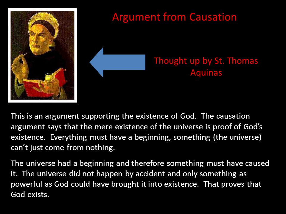 Thought up by St. Thomas Aquinas