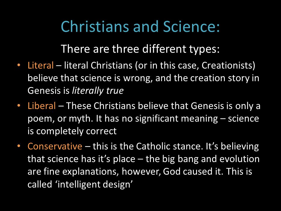 Christians and Science: