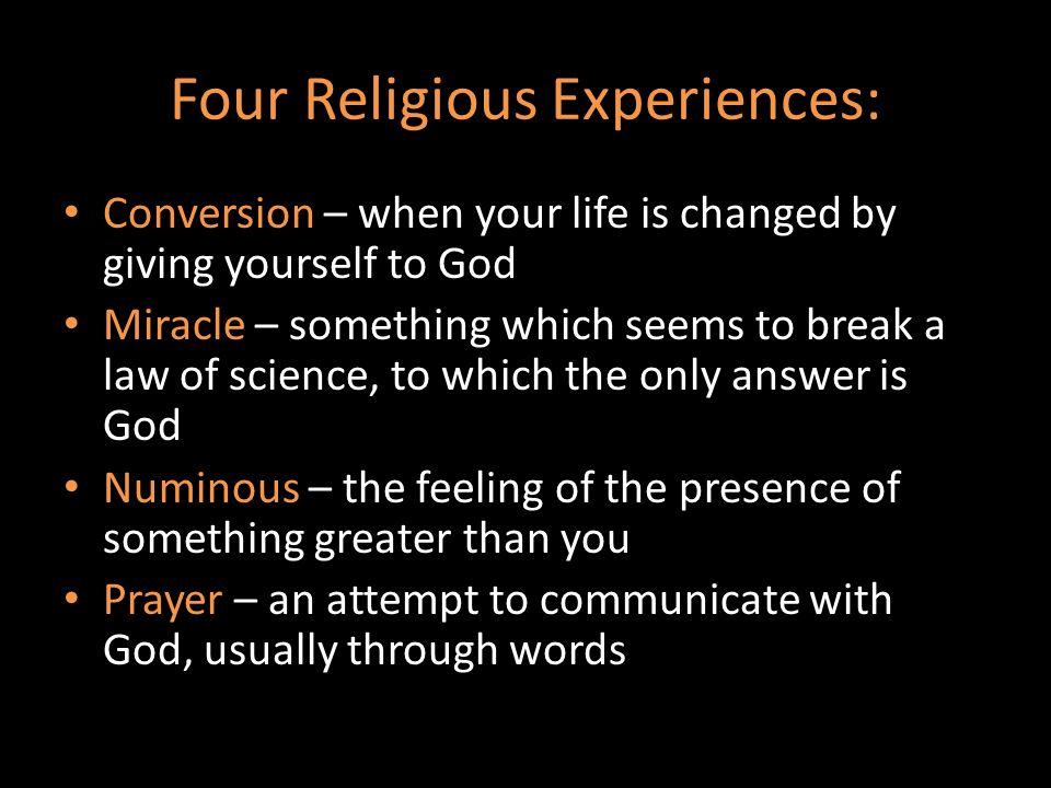 Four Religious Experiences: