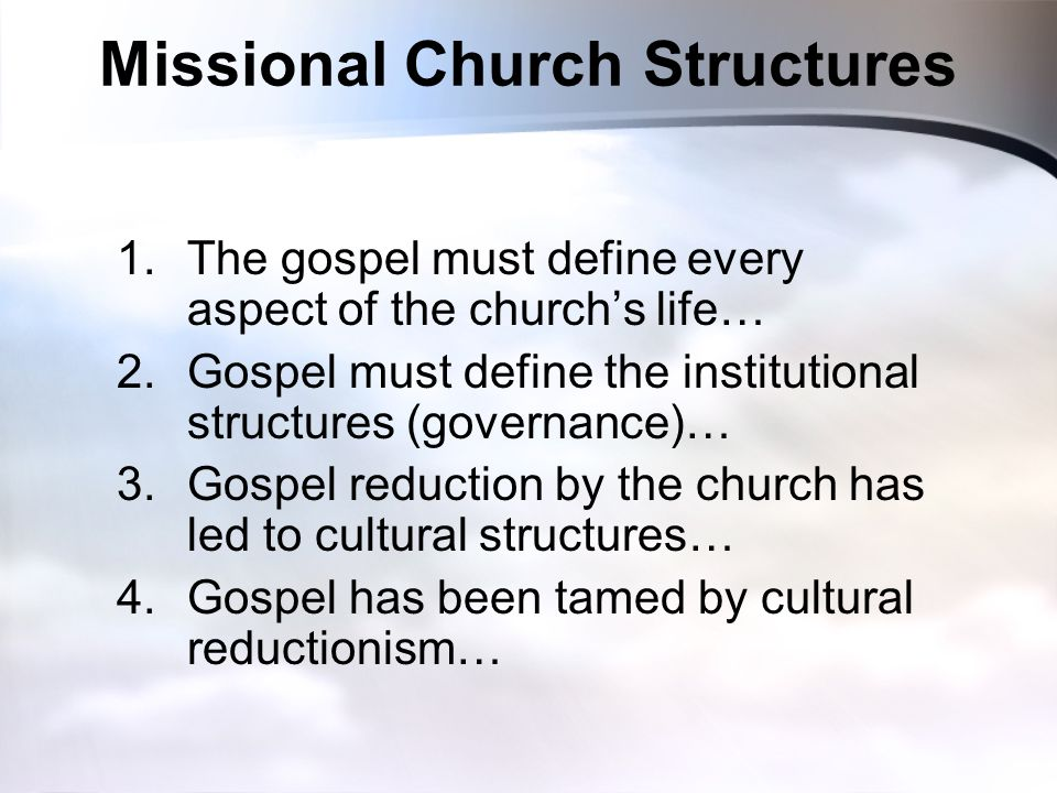 Missional Church Structures