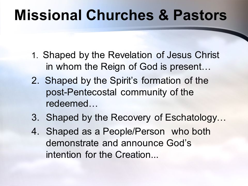 Missional Churches & Pastors