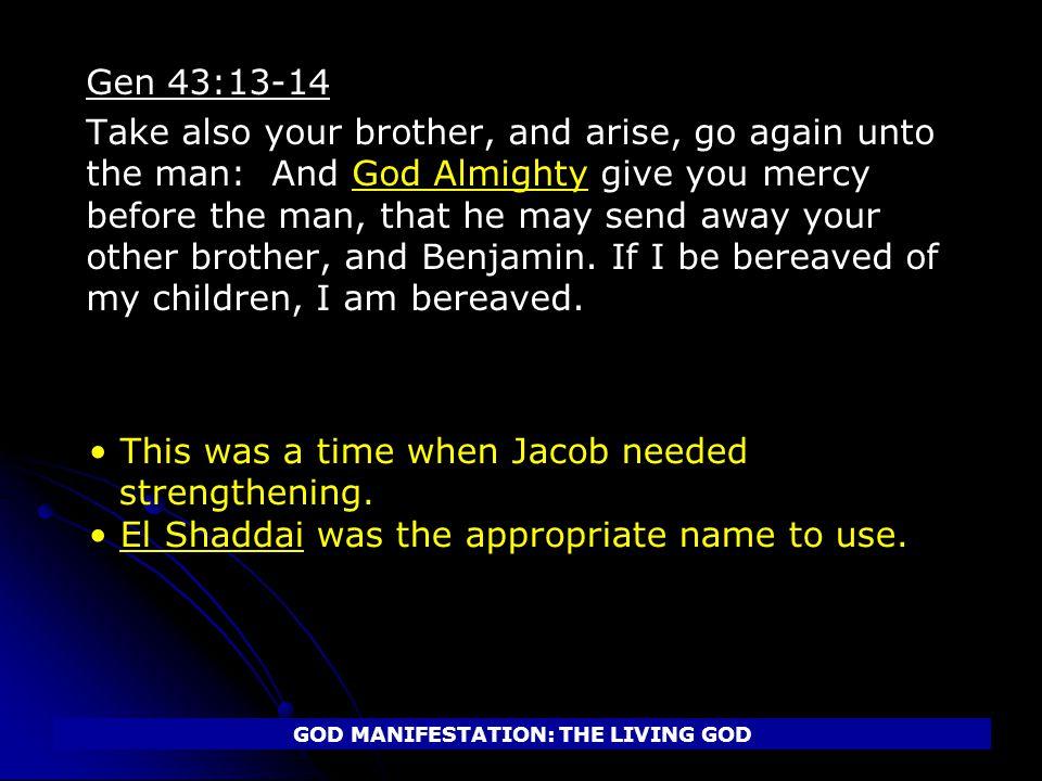 GOD MANIFESTATION: THE LIVING GOD