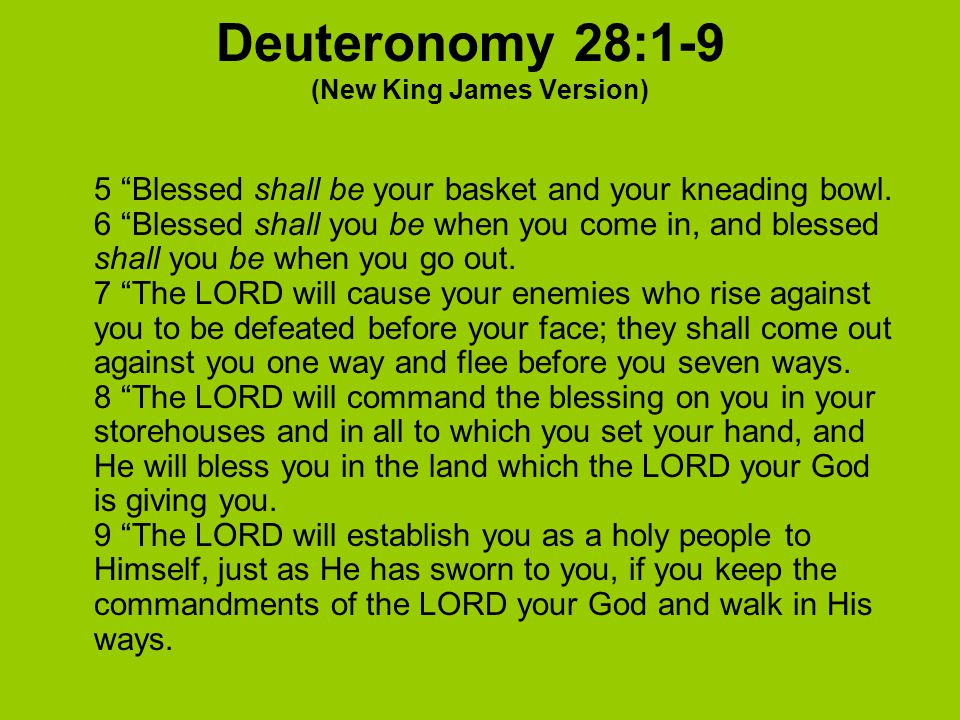 Deuteronomy 28:1-9 (New King James Version)