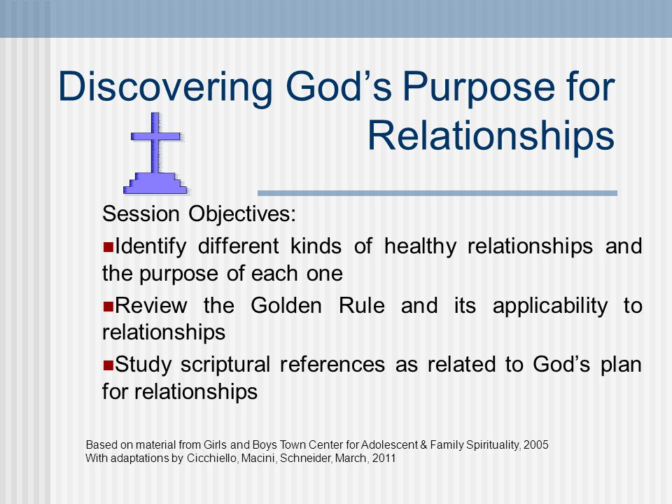 Discovering God's Purpose for Relationships