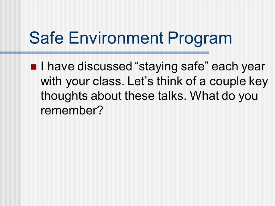 Safe Environment Program