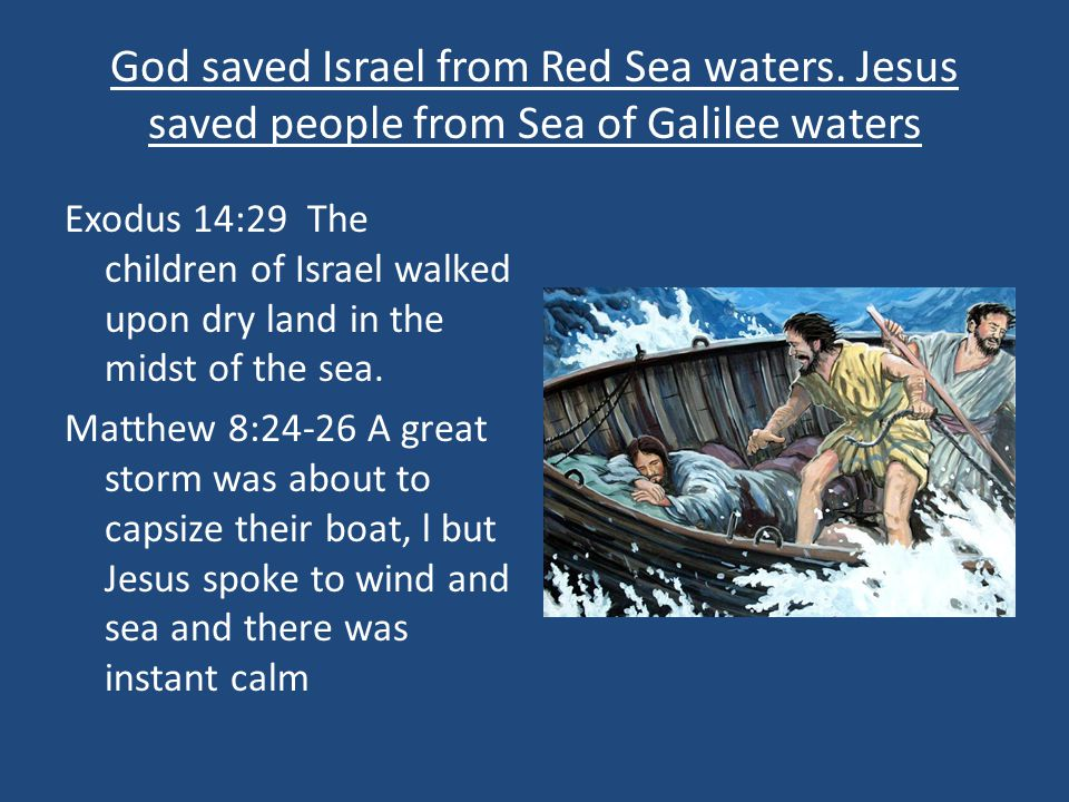God saved Israel from Red Sea waters