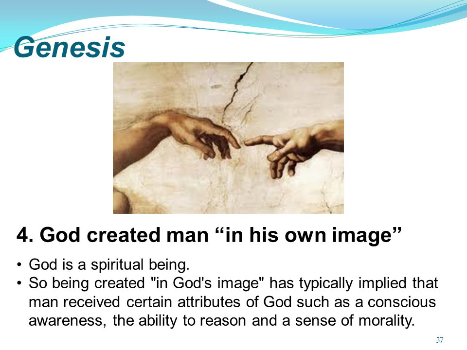 Genesis 4. God created man in his own image
