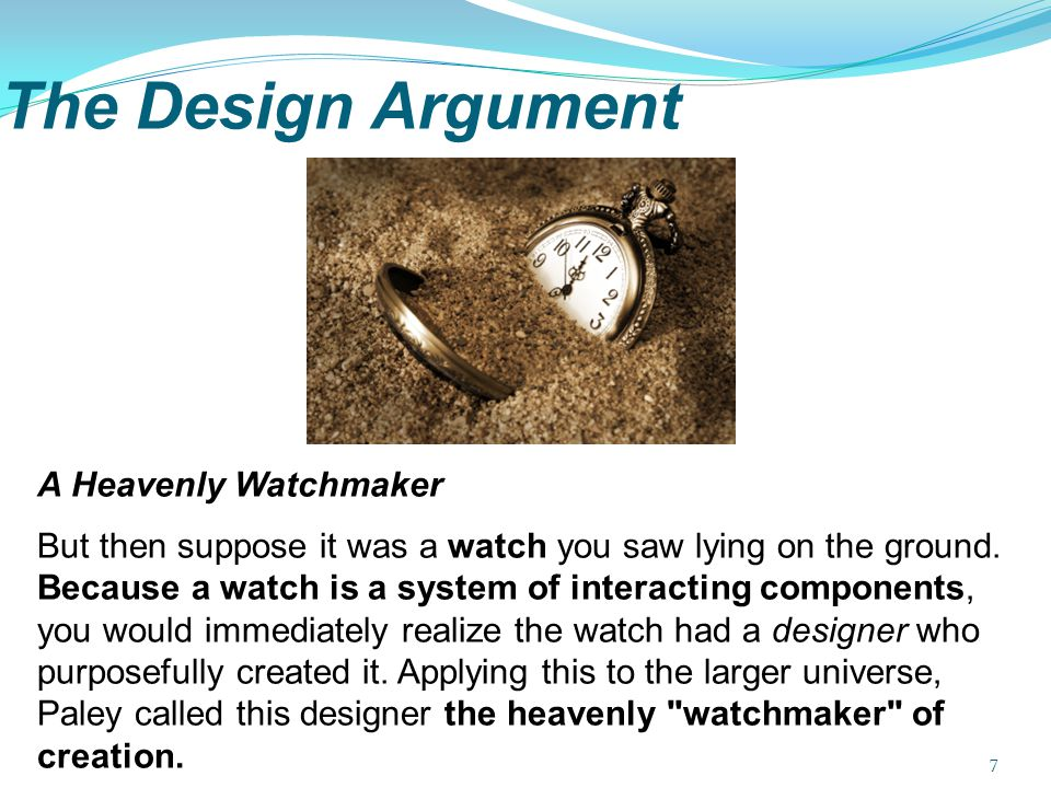 The Design Argument A Heavenly Watchmaker