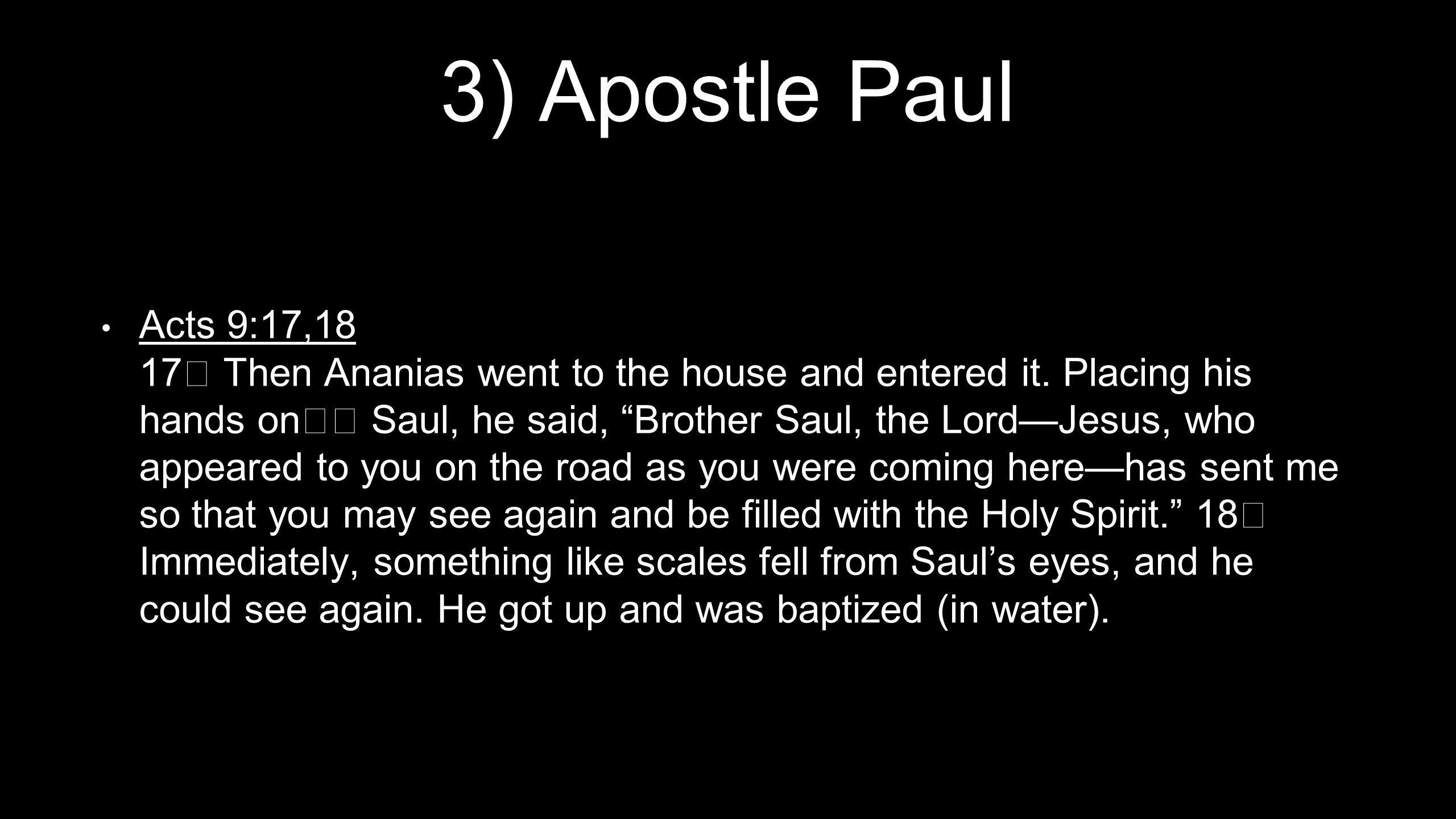 3) Apostle Paul