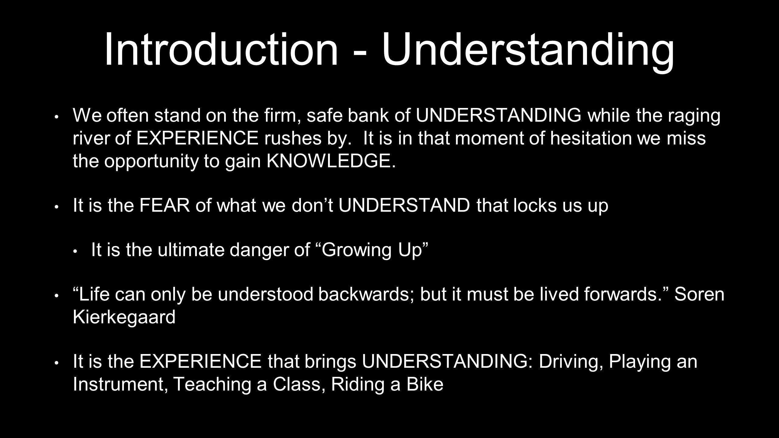 Introduction - Understanding