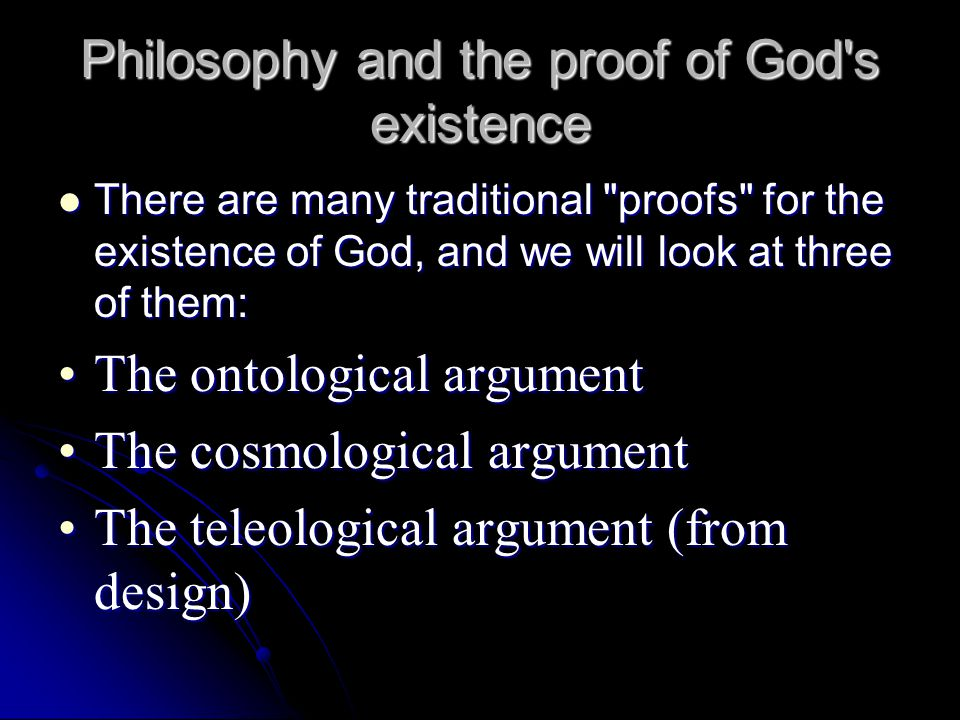 Anselm: Ontological Argument for God's Existence