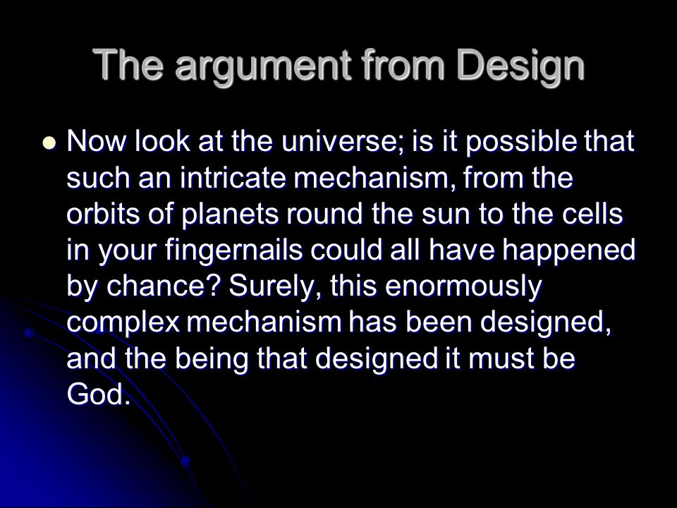 The argument from Design