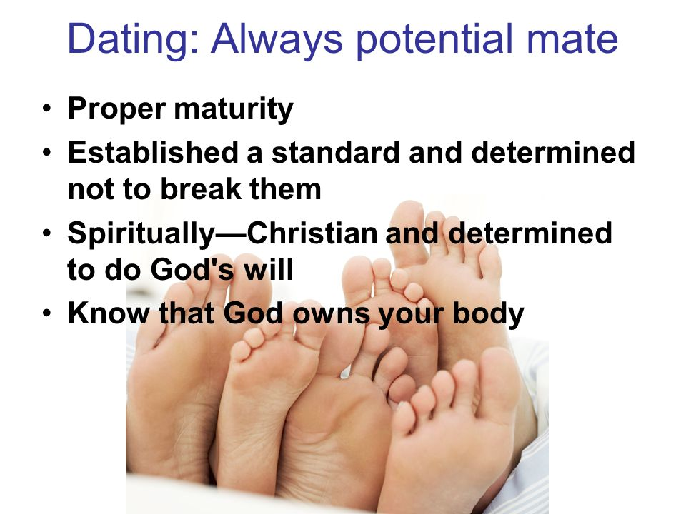 Dating: Always potential mate