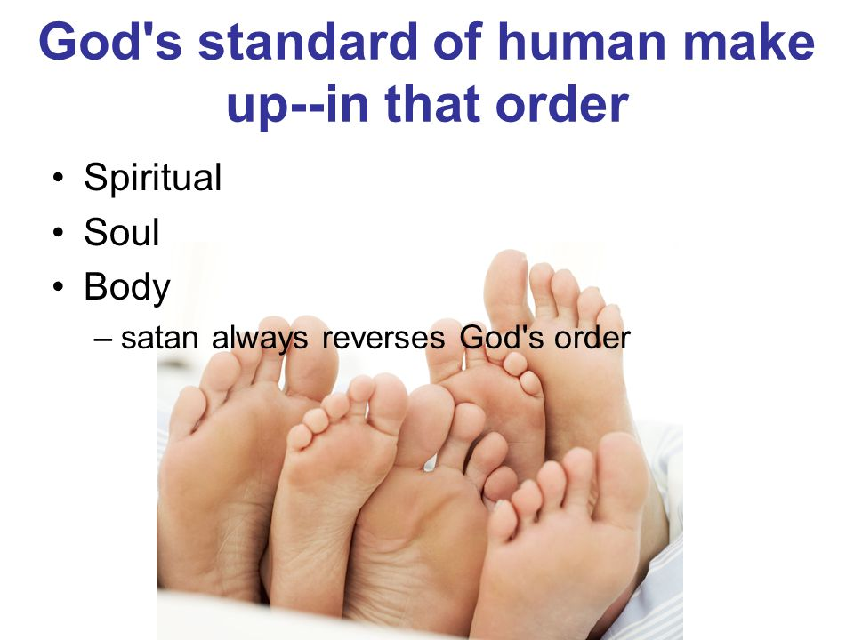 God s standard of human make up‑‑in that order