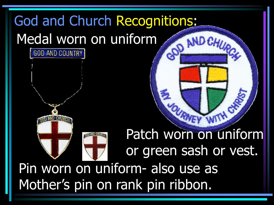 God and Church Recognitions: