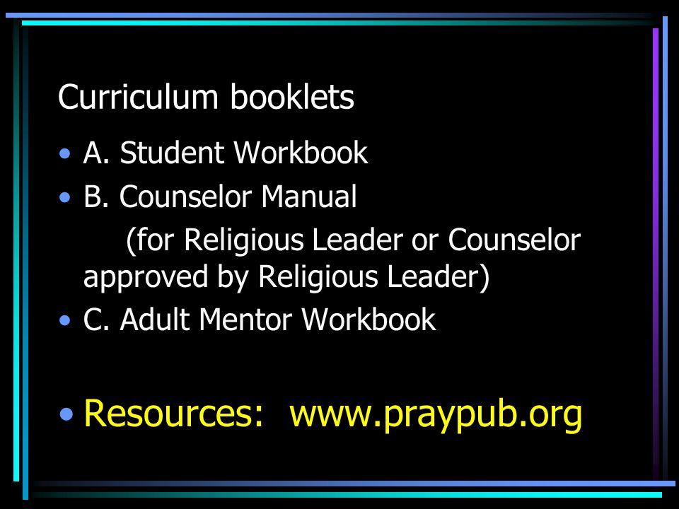 Resources: www.praypub.org