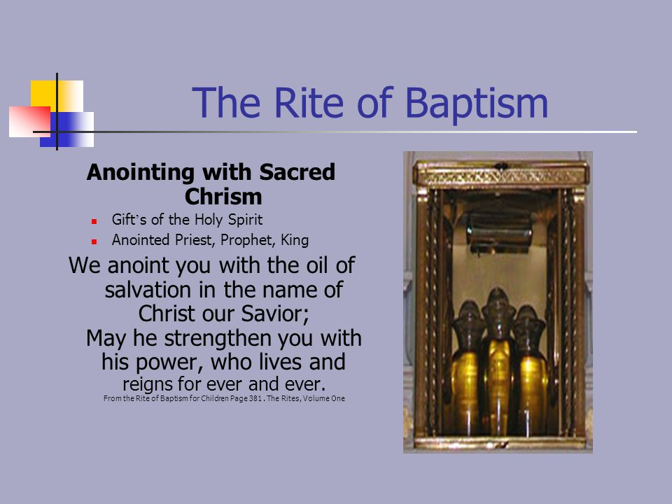 Anointing with Sacred Chrism